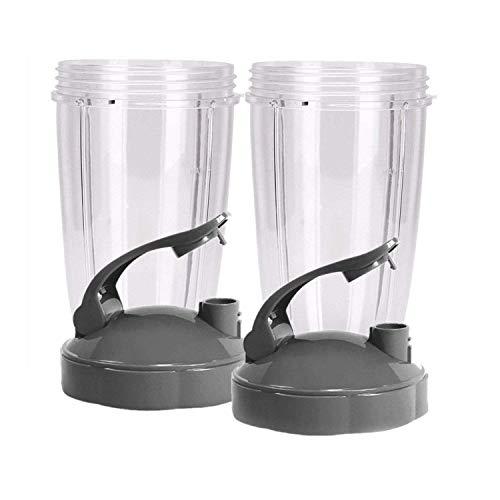 TOOGOO Tasses de 24 Onces avec Couvercle Rabattable a Emporter (Paquet de 2) Pièces de Rechange Nutri et Accessoires Convient Au Nutri 600W et Pro 900W Mélangeur