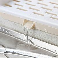 Inicio práctico extraíble de plástico de cocina estante de toalla de cocina de lavado de tela esponja Drenaje del estante del sostenedor del organizador
