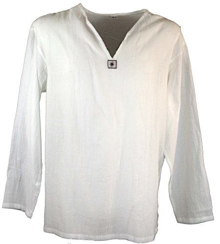 Guru-Shop Yoga Hemd, Goa Hemd, Herren, Baumwolle, Männerhemden Alternative Bekleidung