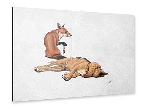 artboxONE Alu-Print 120x80 cm Not So (wordless) von Künstler Rob - Snow Tail Fox