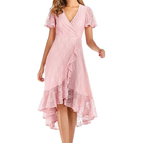 Mosstars Vestidos Mujer Casual Manga Corta Vestido Largo de Fiesta Inf