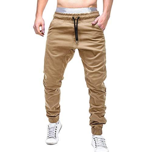 Feidaeu Männer Jogginghose Beiläufige Slim Fit Kordelzug Mittlere Taille Elastische Taschen Ganzkörperansicht Hosen Haremshosen Hosen -