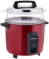 (CERTIFIED REFURBISHED) Panasonic SR-Y22FHS 750-Watt Electric Cooker with Non-stick Cooking Pan (Burgundy)