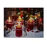 NIKKY HOME LED Weihnachten Leinwand Gemälde Dekorative LED-Leuchten Bild drucken Glas Kerze