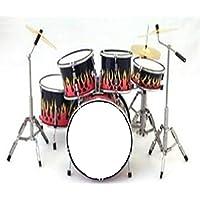 Batteria in miniatura - Mini drum - Replica Flames