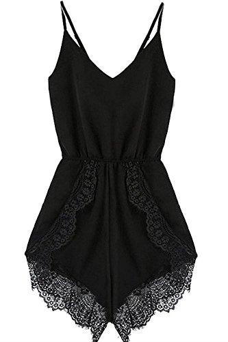 Damen Jumpsuit IHRKleid® Plus Size Overall Lady Chiffon Riemen Strampler (XXL, (Plus Für Overall Size)