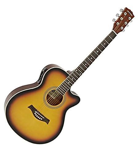 Single Cutaway Elektroakustische Gitarre von Gear4music Sunburst (Single Cutaway Gitarre)
