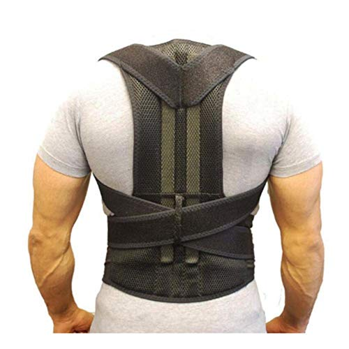 HIXGB Schulterbandage Verstellbares Rechts Links Schulterbandage Schulterhaltung Therapieverletzung Arthritis Schmerzen Gym Sport Bandage, Schwarz,L