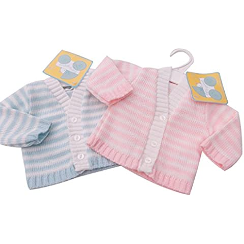 BNWT Tiny Baby para bebé (talla bebés prematuros de punto Cardigan en rosa o azul ropa