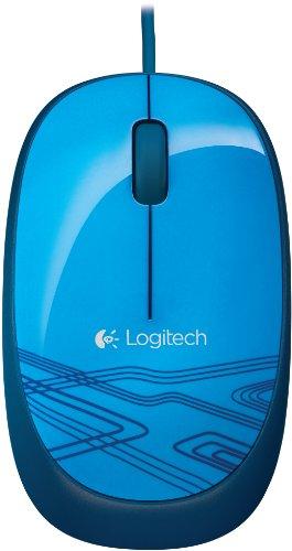 Logitech M105 Optische Maus schnurgebunden (USB, 3 Tasten, Advanced Optimal Tracking) blau