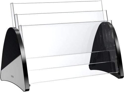 Helit H6270895 - Tischprospekthalter the parable 3 x DIN A3 quer, schwarz