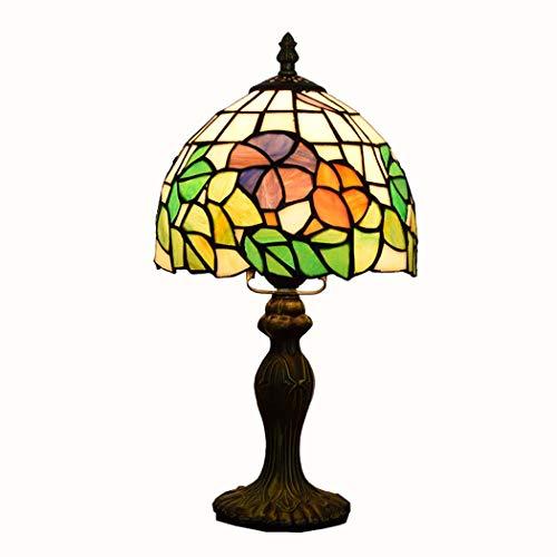 JUNJUNA Lámpara de sobremesa Estilo Tiffany de 8 Pulgadas, decoración de Dormitorio,...