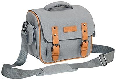 PEDEA Vintage SLR-Kameratasche mit Regenschutz, Tragegurt und Zubehörfächer