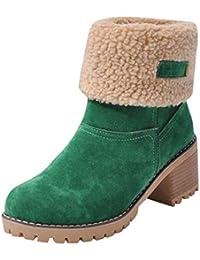 Zapatillas para Mujer by BaZhaHei, Zapatos de Invierno de Mujer de Las señoras Botas de