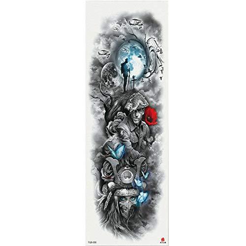7pcs Ampliación brazo tatuaje mangas tatuaje etiqueta