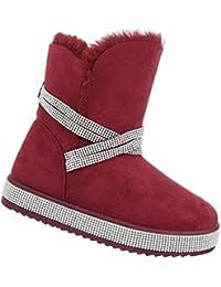 Damen Stiefeletten Warm Gefütterte Winterstiefel Kunst Fell Boots Schnee  Schuhe EUR 36-EUR 41 cffd7adc72