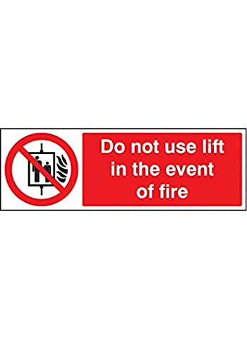 Caledonia Signs 13653G Do not use Lift in The Event
