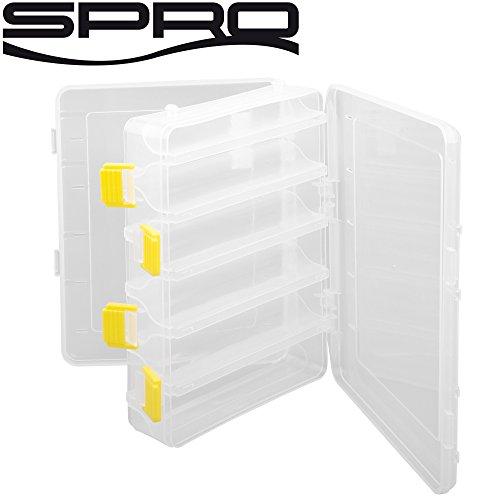 Spro Hardbaits Box M 20x15,5x4,5cm - Angelbox für Wobbler & Blinker, Angelkasten für Kunstköder, Köderbox für Barschwobbler