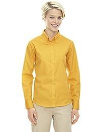North End Mujer Core 365Operar manga larga de sarga botón Down Camisa