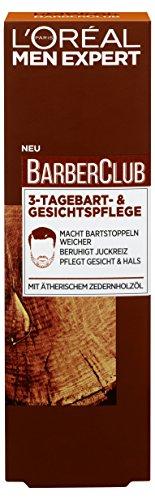 L\'Oreal Men Expert Barber Club 3-Tagebart-und Gesichtspflege, macht den Bart weich, beruhigt Juckreiz und spendet 24H Feuchtigkeit, 50 ml