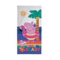 Peppa Pig Kids Towel - Officially Licensed Design Perfect for at Home, The Beach & Swimming Pool, Cotton, Pink, 140 x 70 x 2 cm