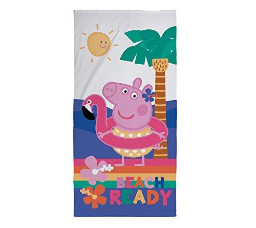 Peppa Pig Kinder Handtuch–Offiziell Lizensiertes Design perfekt für zu Hause, Strand und Schwimmbad, Baumwolle, pink, 140x 70x 2cm
