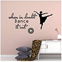 jqpwan Funny Dance Decorative Sticker Waterproof Home Decor for Living Room Company School Office Decoration Stickers wall57*71cm
