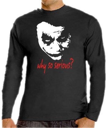Joker-why so serious? touchlines t-shirt à manches longues noir L