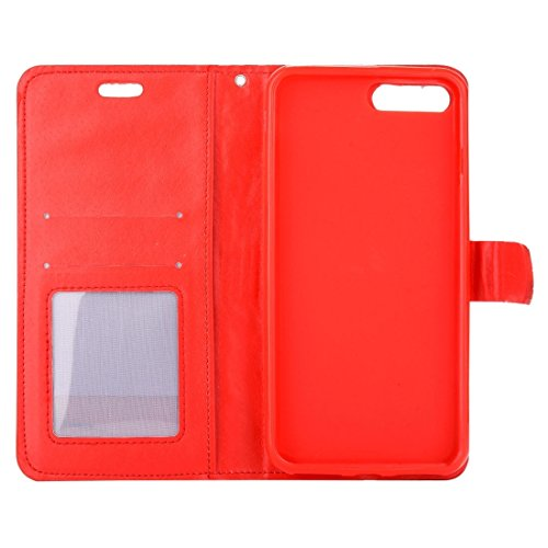 Hülle für iPhone 7 plus , Schutzhülle Für iPhone 7 Plus Jelly Drill Horizontal Flip Leder Schutzhülle mit Halter & Card Slot & Wallet & Photo Frame ,hülle für iPhone 7 plus , case for iphone 7 plus (  Red