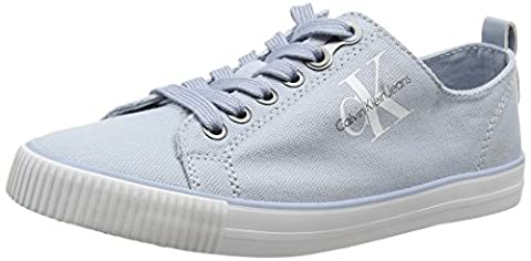 Calvin Klein Jeans Damen Dora Canvas Sneakers, Türkis (Cby), 40 EU (Calvin Klein Sneakers)