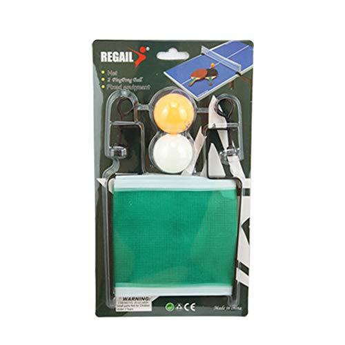 NiceButy 1 Satz Tischtennis liefert Portable Tischtennisnetz zu Tischtennis-Netze und Pfosten mit 2 Tischtennis im Freien Sport-Produkte ersetzen (Tennis Portable Net)