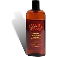 Acondicionador de cuero Leather Honey, el mejor acondicionador de cuero desde 1968, bote de 235 ml. Para uso en ropa, muebles, interior del automóvil, zapatos y accesorios de cuero. ¡No es tóxico y está hecho en Estados Unidos!