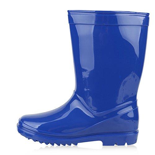 Kinder Gummistiefel Lack Sterne Boots Regenschuhe Profilsohle Wasserdicht Blau