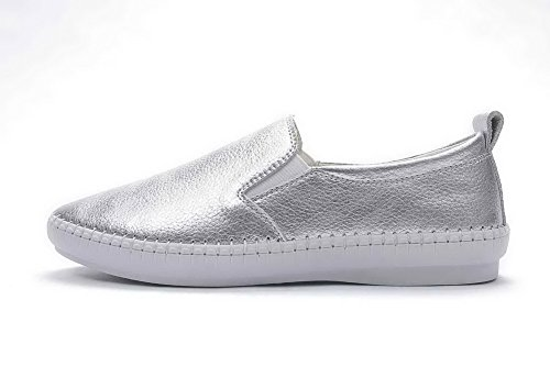 Silber Schuhe Leder Pumpen Synthetik Adee Damen I870IX