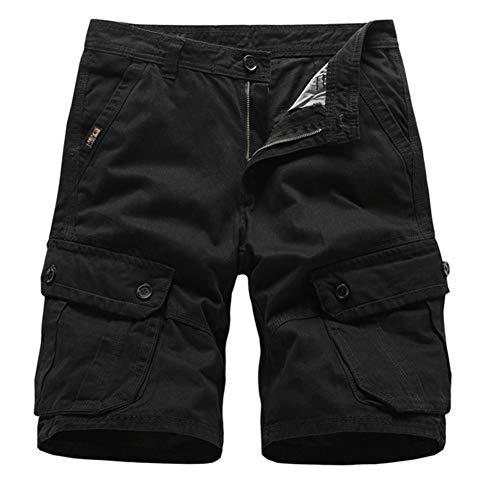 s Nagelneue Shorts Männer Baumwolle Lose Arbeit Beiläufige Kurze Hosen,a,36 ()
