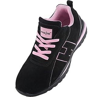 Arbeitsschuhe Sicherheitsschuhe ARGENTINA Schuhe Gr.36-41 Schutzschuhe Damenschuhe Stahlkappe (40), Schwarz-Pink