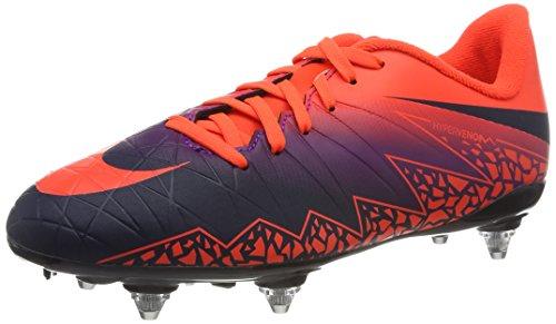 Nike 768906-845, Chaussures de Football Garçon Multicolore (Total Crimson/obsidian-vivid Purple)