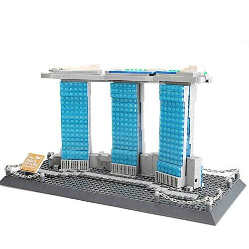 WANGE Marina Bay Sands Hotel in Singapur. Architekturmodell zum Bewaffnen mit Konstruktionsblöcken - Marine Sand