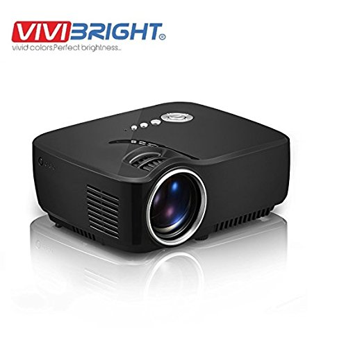Vivibright GP70 LED Projector 1200 lumens 800*480 Multimedia Beamer Mini Portable 1080p