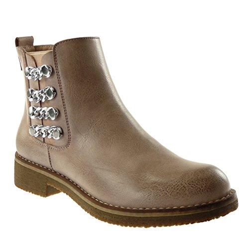 Clouté Femme Angkorly Mode 5 Chelsea 3 Boots Cavalier Rose Talon qZw0UC6