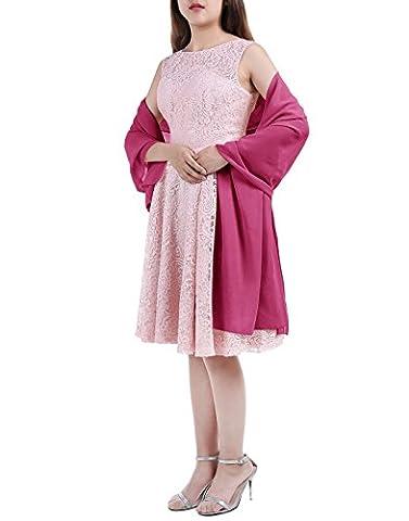 ALAGIRLS Chiffon Stola Schal in verschiedenen Farben für Abendkleid und Cocktailkleid ALA80002 Rose S