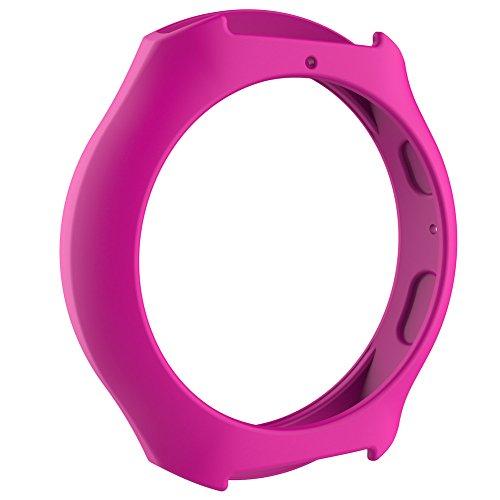Silikon Schutzhülle Rahmen Case Cover Ersatz Band Displayschutzfolie Sleeve für Samsung Galaxy S2Smart Watch, Herren, Pfirsich Rot