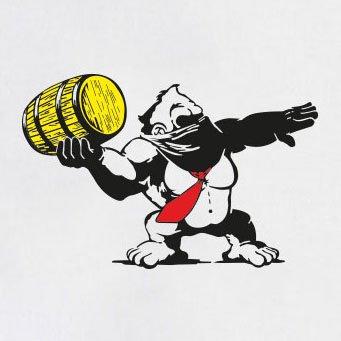 TEXLAB - Banksy Kong - Langarm T-Shirt Rot