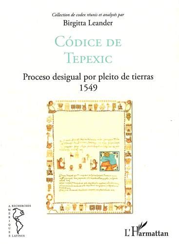 Codice de Tepexic : Proceso desigual por pleito de tierras 1549