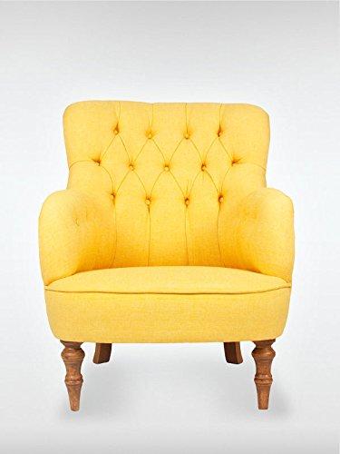 Retro Vintage Ohrensessel LELAND Gelb