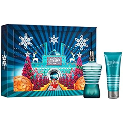Jean Paul Gaultier Le Male Christmas 2016 Gift Set: 75 ml Eau de Toilette EDT & 75 ml Gel de