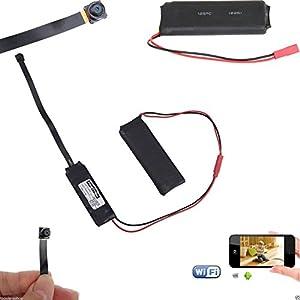 microcamara espia inalambrica: Cámara espía HD Wifi P2P: microcámara oculta, de detección