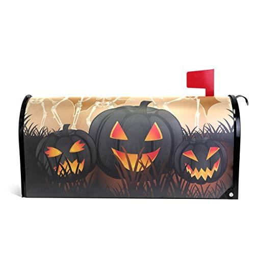 Alaza(mailbox cover) WOOR Halloween Muster mit Kürbis-Magnetbriefkasten, Standardgröße, 45,7 x 52,1 cm 25.5x20.8 inch Oversized Multi (Kürbis-muster-ideen Für Halloween)