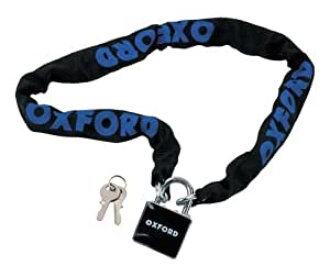 Oxford Lock Chain and Padlock - Black