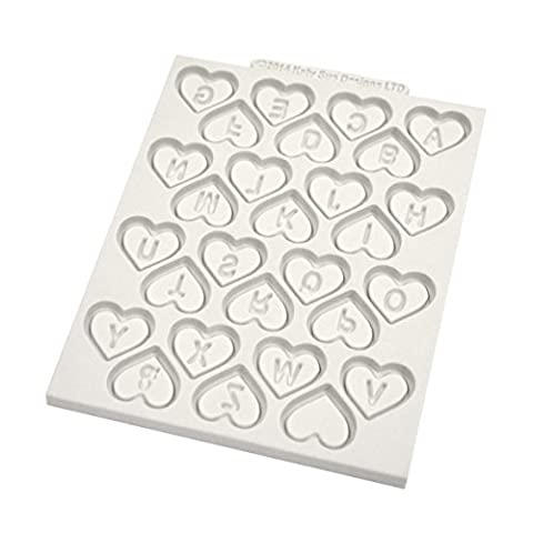Love Heart Alphabet Design Mat Katy Sue Designs Silicone Mould Cake Decorating Cupcakes Sugarcraft